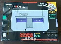 Nintendo 3DS XL Super Nintendo SNES Edition NN3DS XL Console, Mario Kart