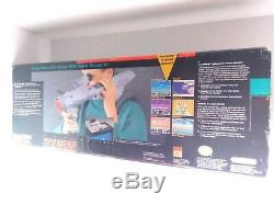 Nintendo SNES Super Scope 6 Complete In Box Scope, Game, Manual, Receiver & Box