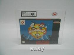 Nintendo Super Nintendo SNES Animaniacs NTSC 1994 UKG not VGA Graded 80NM! NEW