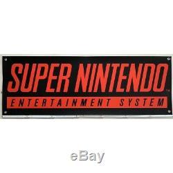 ORIGINAL Super Nintendo SNES Werbung Reklame Banner Werbebanner 148x48cm RAR
