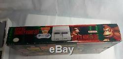 Original Super Nintendo Console Donkey Kong Bundle With Original Box SNES