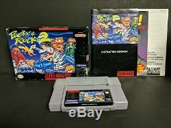 Pocky & Rocky 2 (Super Nintendo Entertainment System, 1995) SNES Complete Boxed