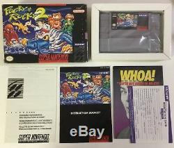 Pocky and Rocky 2 Super Nintendo SNES 100% CIB Complete