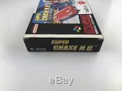 RARE! Super Chase HQ Boxed Super Nintendo Snes Aus Pal