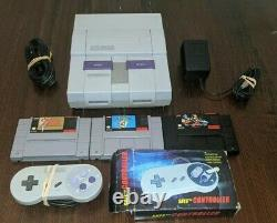 REFURBISHED Super Nintendo SNES System Console Bundle With Mario World, Zelda ++