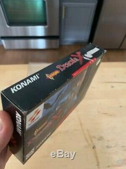 SNES Castlevania X Complete CIB Rare Super Nintendo Protector Manila Inserts