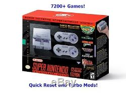 SNES Classic 7200+ Games Super Nintendo Classic Quick Reset & Turbo Mod