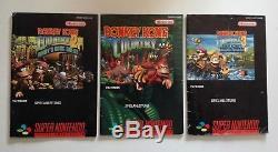 SNES Donkey Kong Country 1 2 3 in OVP Super Nintendo Spiel I II III
