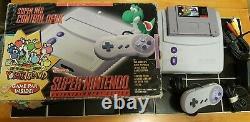 SNES Jr Mini Super Nintendo Yoshi's Island Console & System & Game All Oem READ