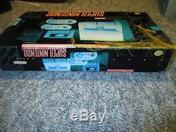 SNES Original Super Nintendo Console Super Set Complete in Box CIB Vintage