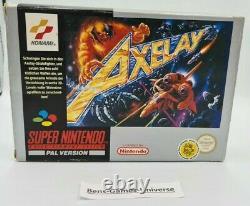 SNES Super Nintendo Axelay mit Ovp und Anleitung PAL NOE
