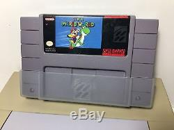SNES Super Nintendo Console System Bundle Super Mario World TESTED WORKS