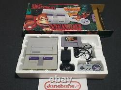 SNES Super Nintendo DONKEY KONG COUNTRY Console System Bundle in Box Boxed