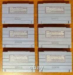 SNES Super Nintendo Donkey Kong and Mortal Kombat 8 Cartridge Lot