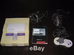 SNES Super Nintendo Entertainment System Console Classic in Original Box