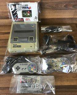 SNES Super Nintendo Entertainment System Games Console 2 Controllers 2 Games