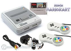 SNES Super Nintendo Konsole + 2 Controller + Spiele wie Super Mario oder Zelda