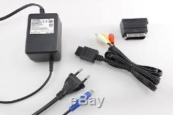 SNES / Super Nintendo Konsole + Mario Spiel, 2 Controller & ALLE Kabel