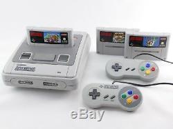 SNES / Super Nintendo Konsole + Mario Spiel, ORIGINAL Controller, Strom & Kabel