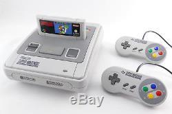 SNES / Super Nintendo Konsole (TOP Zustand) + Mario World, 2 Controller & Kabel
