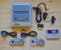 SNES Super Nintendo Konsole mit 2 Controller + Super Mario World