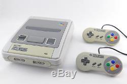 SNES/Super Nintendo Konsole mit 2 ORIGINAL Controller, Strom & alle Kabel