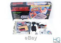 SNES Super Nintendo Street Fighter 2 Edition Console Boxed Bundle! PAL