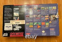 SNES Super Nintendo System Console Super Mario World Set Complete In Box