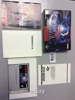 SNES TERRANIGMA For the SUPER NINTENDO Games console PAL VERSION