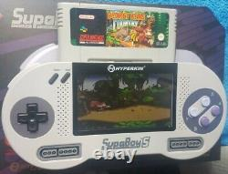 SUPABOY S Handheld SNES! Portable Super Nintendo PAL / NTSC Switch VGC