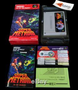 SUPER METROID Super Famicom Nintendo SNES SFC Japones Complete