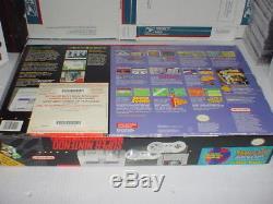 SUPER NINTENDO SNES system complete set SUPER MARIO WORLD / ALL STARS in BOX