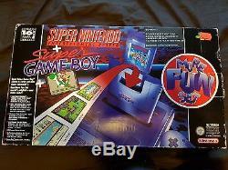 SUPER NINTENDO Super Fun Set Mario World Gameboy Boxed Rare SNES Console