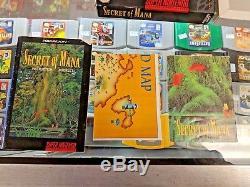 Secret Of Mana Cib Snes Super Nintendo Complete Authentic