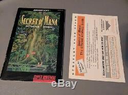 Secret of Mana Super Nintendo SNES Complete in Box CIB Nice! #2