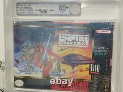 Set of 3 VGA graded Super Star Wars, ESB, ROTJ SNES video games made by Nintendo