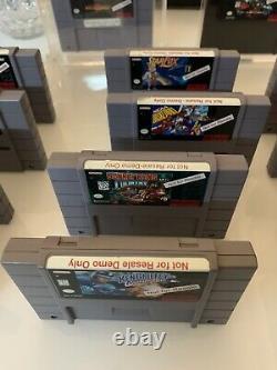Snes Not For Resale Complete Set 14 Carts Super Nintendo Kiosk