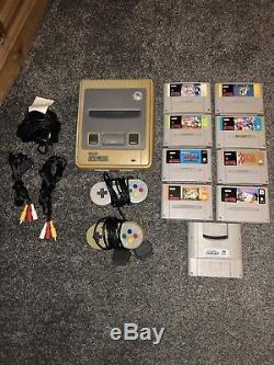 Snes Super Nintendo 1993 Bundle Console 9 Games 2 Controllers Genuine