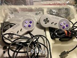 Snes Super Nintendo Entertainment System Complete In Box