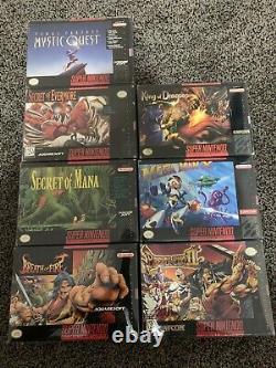Snes Super Nintendo Games In Box Collection Lot Of 37 CIB