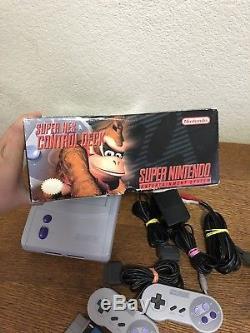 Snes Super Nintendo Junior Mini Sns-101 Console With Super Mario World In Box