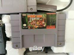 Snes Super Nintendo Super Nes Donkey Kong Set Console Complete Withbox