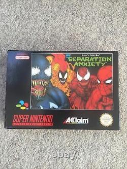 Snes Venom Spider-Man Separation Anxiety Mint Super Nintendo