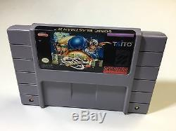 Sonic Blast Man 2 Snes Super Nintendo Cleaned Tested working NICE Authentic