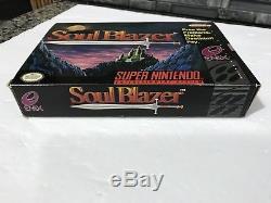 Soul Blazer (Super Nintendo, SNES) Complete in Box, CIB