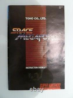 Space Megaforce SNES Super Nintendo Complete 100% CIB