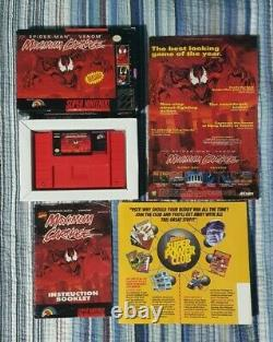 Spider-Man Venom Maximum Carnage Super Nintendo (SNES) w promotional poster