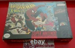 Spider-Man and The X-Men in Arcade's Revenge SUPER Nintendo AUTHENTIC SNES Seal