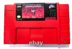 Spiderman Maximum Carnage SNES Super Nintendo Game RED Cartridge TESTED