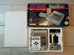 Starwing Snes Console Boxed Super Nintendo Fully Tested Free P&P
